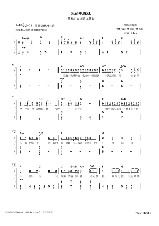 廷廷的钢琴窝 手机版 钢琴谱下载图片